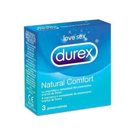 Durex Natural Comfort 3 unid.