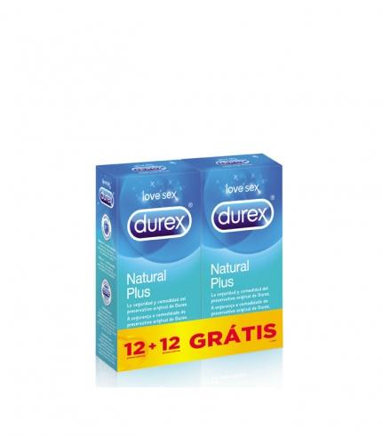 Durex Natural Plus 12 + 12 Grátis.