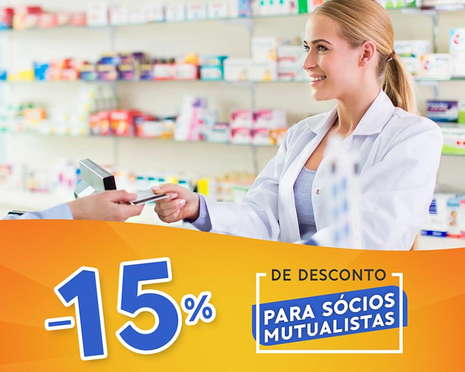 15% de Desconto para os Sócios Mutualistas